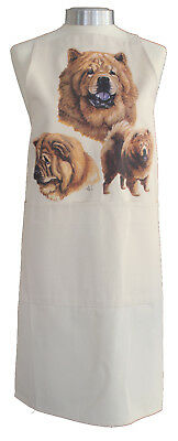 Chow Chow Group Breed of Dog Cotton Apron Double Pockets UK Made Baker Cook Gift