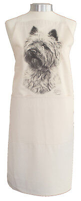 Cairn Terrier (b) Dog Cotton Apron Double Pockets UK Made Baker Cook Gift
