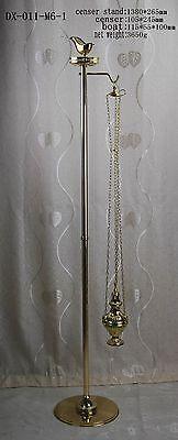 Brass Censer Boat Incense Burner with stand hanger for Home Church DX-011-M6-1