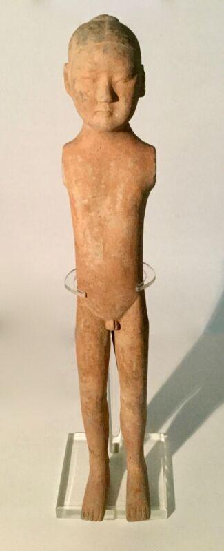 "Chinese Han Dynasty Pottery ""Stickman"" ca. B.C. 206 - A.D. 220m"