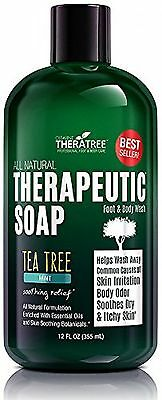 TheraTree Tea Tree Oil Soap with Neem Oil - 12oz - Helps Ski