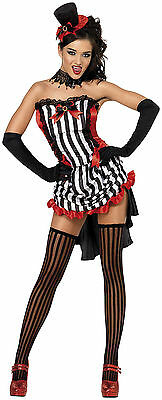 Fever Madame Vamp Costume Sexy Saloon Girl Can Can Girl Rockettes - Madame Vamp Costume