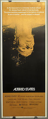ALTERED STATES 1980 ORIG 14X36 MOVIE POSTER WILLIAM HURT BLAIR BROWN BOB BALABAN