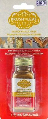 - ANTIQUE GOLD  Brush 'n Leaf Metallic Leafing Paint golden Gilding & Finish 76631