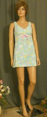 Adorable 1960s/70s Robby Len Micro-Mini Sun Dress, Flower Power, 34 Mod Size 4/5 (Sixties Flower Power)