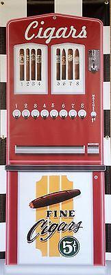 ANTIQUE VINTAGE CIGAR VENDING MACHINE REPLICA PRINTED BANNER MURAL ART 2' X 5'