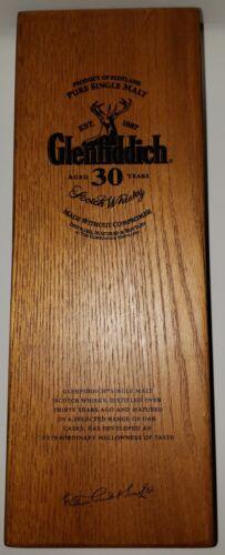 Glenfiddich ~ Aged 30 Years ~ Single Malt Scotch Whiskey ~ Wooden Box ~ Rare!!!