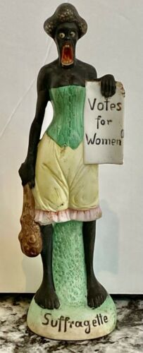 """~WOMEN'S SUFFRAGE~""""VOTES FOR WOMEN""""~SOJOURNER TRUTH~BISQUE~RARE LARGE SIZE~S&V!~"""