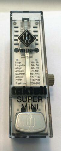 Vintage Designer WITTNER Taktell Super Mini Black Metronome Made In Germany