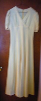 HAND-MADE SZ 7/8 OR 9/10 EMPIRE WAIST YELLOW PROM BALL GOWN BRIDESMAID DRESS