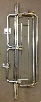 Vintage Rolling Chrome Clothes Clothing Garment Rack Collapsible