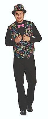 Rubies 14114 - Freaky Dandy Weste, Herren Kostüm, Gr. 48 - 60, Neon, inkl.Fliege