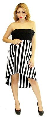 Striped Maternity Wedding Black White Casual Dress Long Maxi Dresses Baby Shower