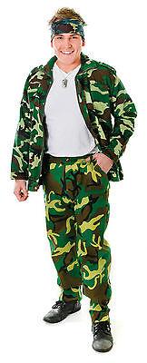 Herren # Tarnmuster Armee Hosen für Erwachsene Militär Kostüm Einheitsgröße