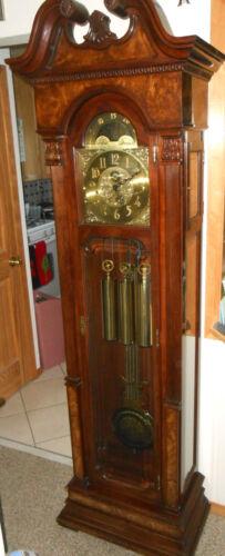 Vintage Charles R. Sligh Clocks Grandfather Clock - Gorgeous - Works Perfectly