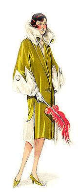 "Waterslide Decals (4pcs 2.5""x3.5"") FLONZ 412-0228 Vintage Fashion Belle Epoque"