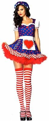 Leg Avenue Darling Dollie Sexy Halloween Costume Cosplay Dress Bonnet S M 83777 - Dolly Costumes