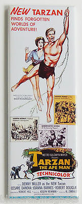 Tarzan The Ape Man  1959  Fridge Magnet  1 5 X 4 5 Inches  Insert Movie Poster
