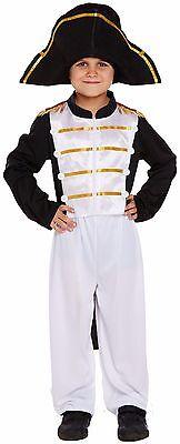 Kinder Jungen Offizier Napoleon Büchertag Kostüm Kleid Outfit 4-12 Jahre