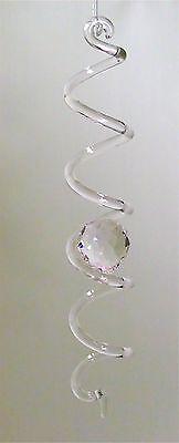DNS Feng Shui Glas Spirale mit handgeschliffener Kugel Qualität