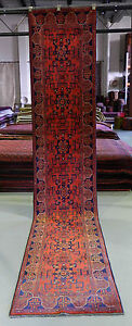 ★NEW PERSIAN RUG★ 3.9m PURE WOOL HALL RUNNER AFGHAN MOHOMMADI HANDKNOTTED CARPET