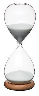 (Masterclass Large 30 Minute White Sand Traditional Hour Glass Egg Kitchen Timer)