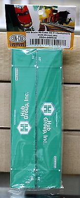 Ho Scale   Con Cor 0004 088028 Hub Group Inc 53 Hi Cube Container Set 2 Pack