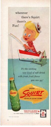 1959 ORIGINAL VINTAGE SQUIRT SODA MAGAZINE AD