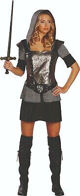 Rubies 13122 - Ritterin, Damen Kostüm, Gr. 36 - 44, Ritterkleid, - Ritter Kostüm Kleid