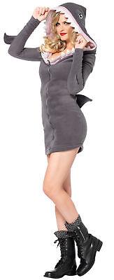 Shark Cozy Adult Women's Costume Fleece Dress Fish Animal Halloween Leg Avenue
