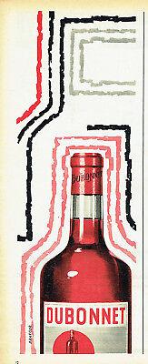 Dubonnet Rouge - Publicité Advertising 078  1957   apéritif Dubonnet rouge