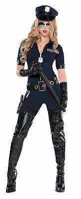 Ladies Stop Traffic Police Costume Sexy Cop Fancy Dress (Traffic Cop Kostüm)
