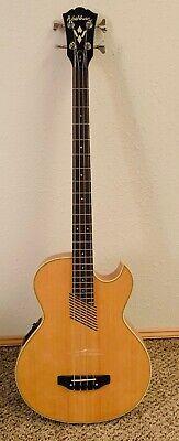 Washburn AB-20 Acoustic-Electric 4 String Fretless Bass