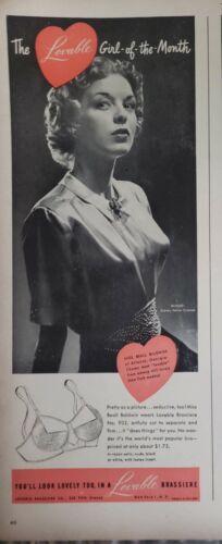 Lot of Vintage 1948 Lovable Bra Print Ads Wall Art Decor Ephemera