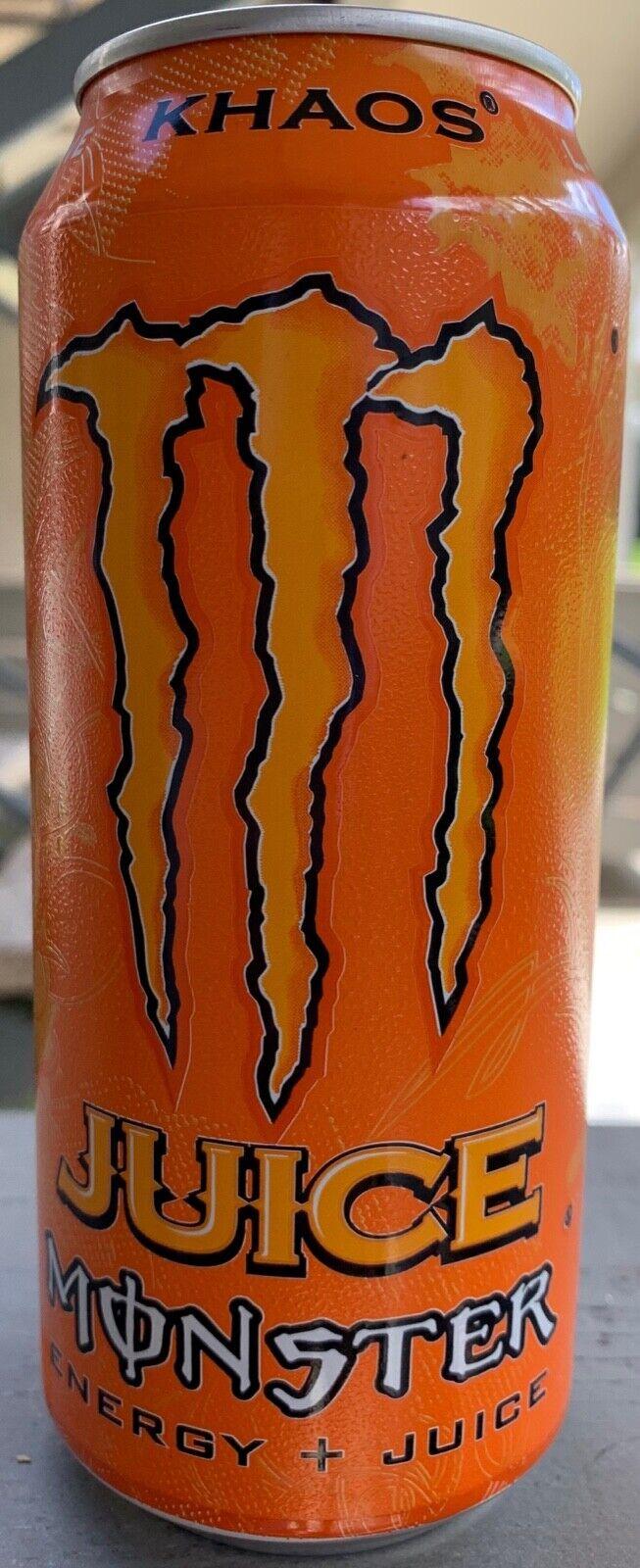 Энергетические напитки (Еда и напитки) NEW JUICE MONSTER KHAOS ENERGY DRINK 16 FL OZ FULL CAN FREE WORLD WIDE SHIPPING