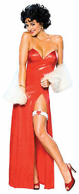 arlet Erwachsene Damen Kostüm Rot Langes Kleid (Betty Boop Kostüm)