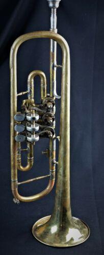 Konzerttrompete Otto Rödiger Aachen Trumpet in case Wind Instrument Trumpet