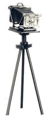 Dollhouse Miniature - Antique Camera Black Metal on Tripod  - 1:12 Scale for sale  Shipping to India