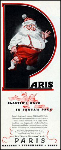 1944 Santa Claus Aris garters suspenders Christmas vintage art Print Ad adL55