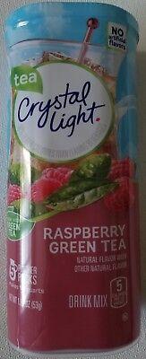 NEW CRYSTAL LIGHT RASPBERRY GREEN TEA DRINK MIX 10 QUARTS FREE WORLD SHIPPING