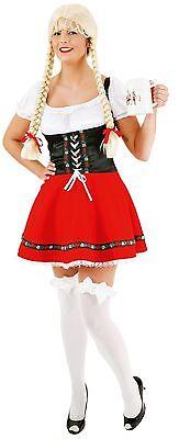 Dirndl Kleid rot-schwarz Gr 38 und 40 S - Kostüm Schwarze Und Weiße Kleid