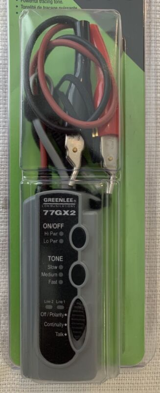 GREENLEE ~ 77GX2-G Tone Generator Electrical Wire Tester Tracer with 6A Clips