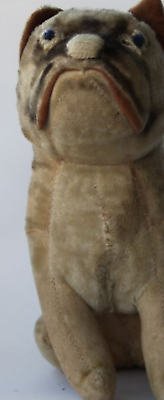 Ancienne peluche paille chien anglais teddy collection 1910 old english bulldog