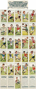 PLAYERS-CARICATURES-BY-RIP-1925-FOOTBALL-ODDS-Nos-1-to-25-ORIGINAL-CARDS