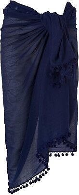 Phase Eight Pom Pom Sarong / Scarf RRP£39 In Navy - STUNNING!!