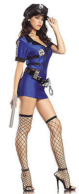 BE WICKED HOT POLICE OFFICER COSTUME HALLOWEEN PARTY NAUGHTY WOMEN'S COP OUTFIT