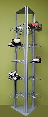 Only Hangers Modern Slatgrid Shoe Tower Display
