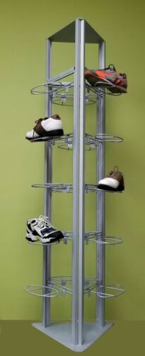 Only Hangers Modern Slat/Grid Shoe Tower Display