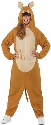 Men Animal Costumes (Kangaroo Costume Mens Womens Costume Adults Fancy Dress Outfit Animal)