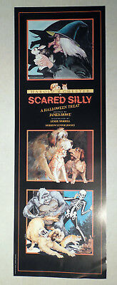 A Halloween Treat (SCARED SILLY A HALLOWEEN TREAT BOOK PROMO POSTER HAROLD & CHESTER JAMES)
